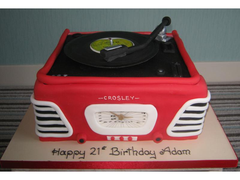 Retro- 1960s style 3D  record player with Beatles record for Adam of St Annes on his 21st birthday