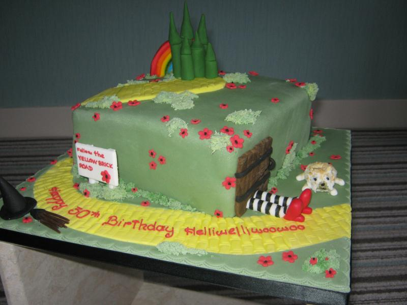 Wizard of Oz themed birthday cake in vanilla sponge for Alana's birthday party in Pendle