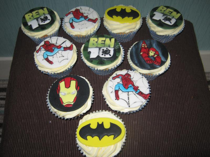 Super Heros - comic book heros in plain sponge for Josh's 10th birthday in Carleton