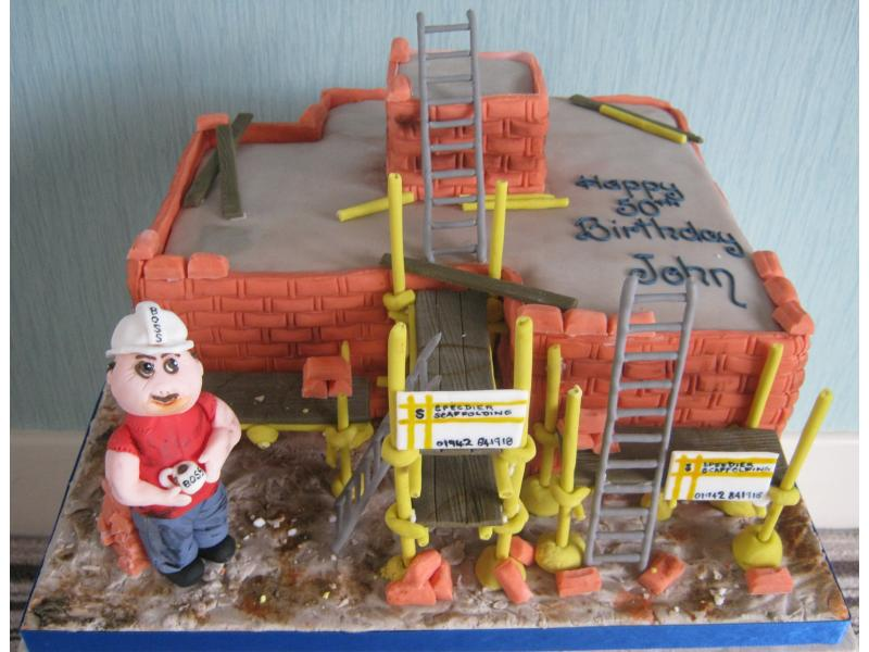Scaffolder in Madeira sponge for John on his 50th birthday in Fleetwood who owns http://www.speedierscaffolding.com/