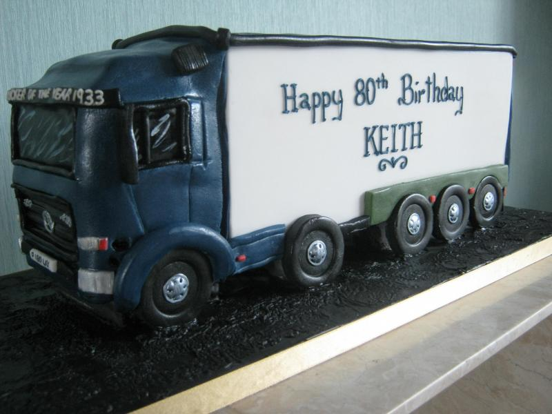 Merceded Truck in Madeira sponge for an 80 year old in Cleveleys