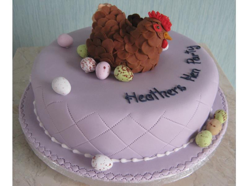 Hen in lemon sponge for Heather's Party in Preston