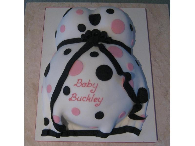 Baby Shower Cake for Baby Buckley from Poulton made from chocolate sponge