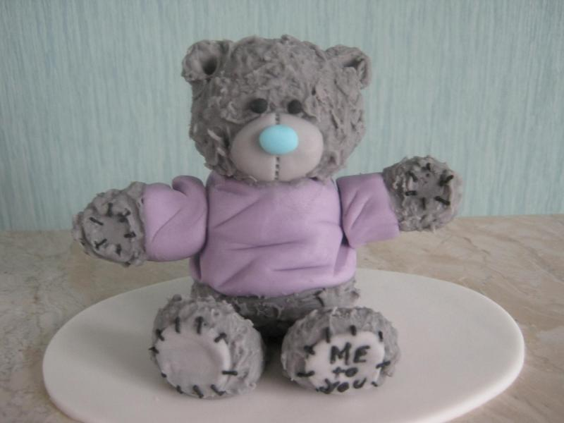 Tatty Bear demonstration piece in sugapaste for cake enthusiasts in Bispham