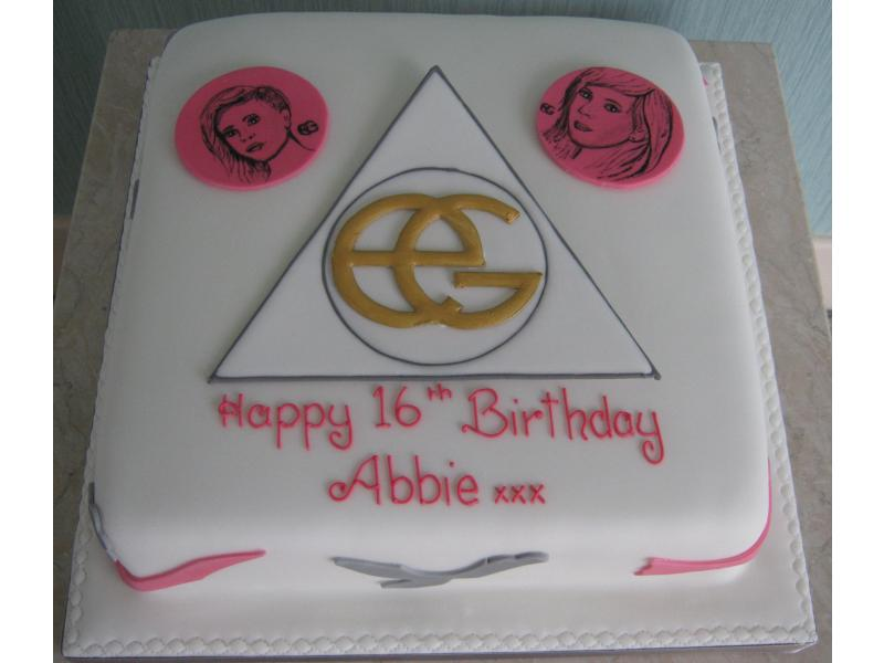 Ellie Goulding themed cake for abbie's 16th birthday in Thornton made from chocolate sponge