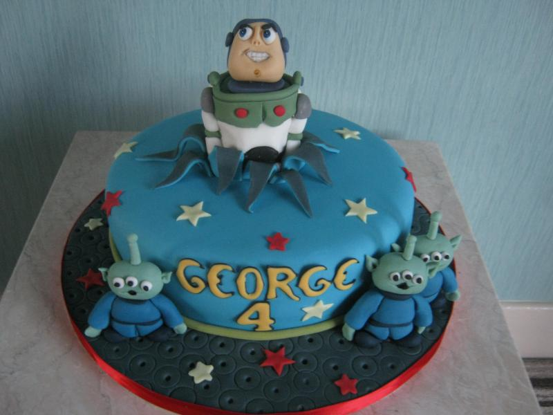 Buzz Lightyear for George's 4th birthday in Swinton, made from Madeira