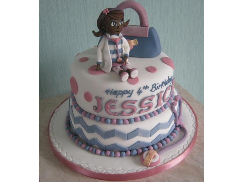 Doc McStuffins vanilla sponge for Jessica's 4th birthday in Bispham