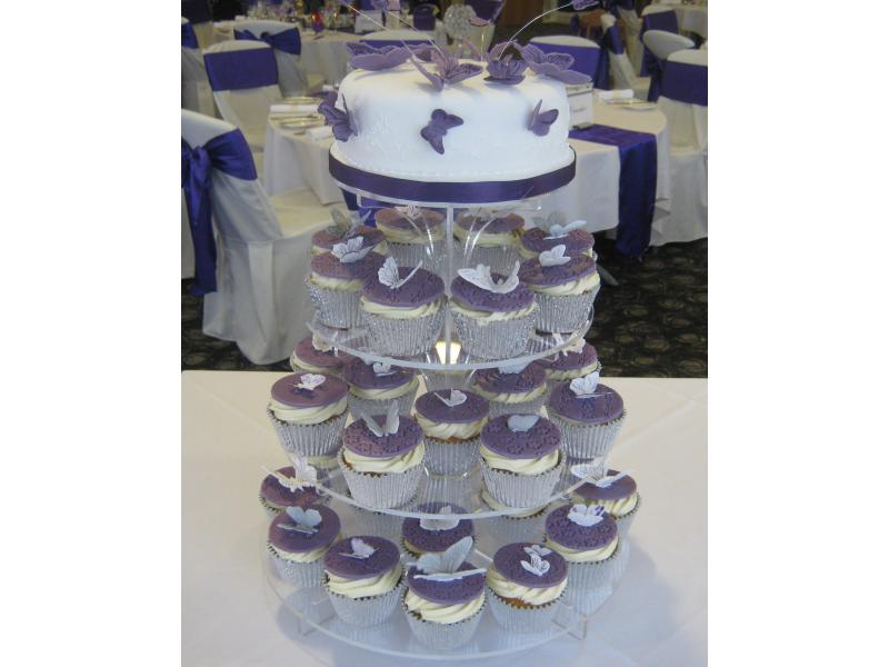 Cupcakes for Cadbury-themed wedding at Ribby hall in chocolate sponge