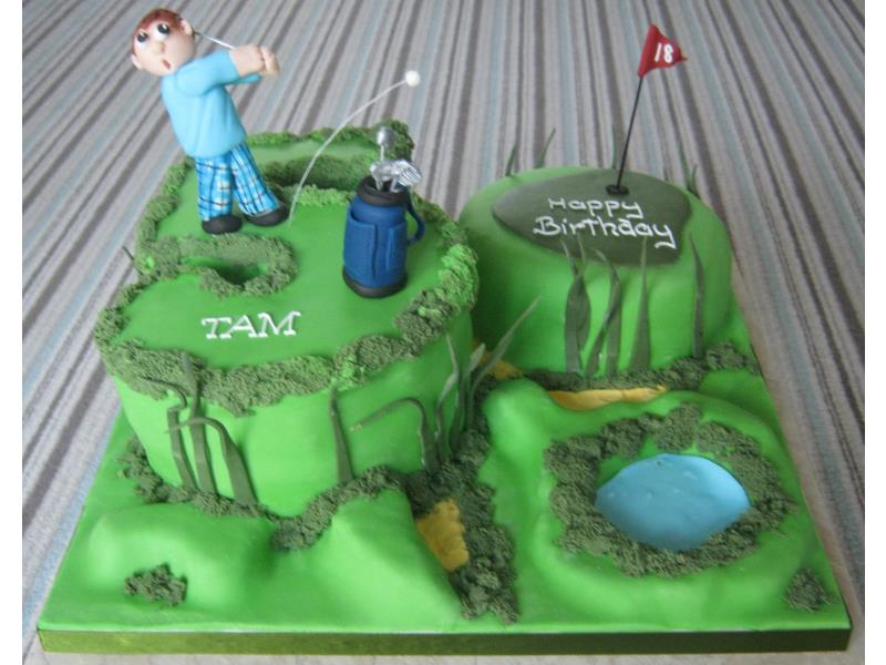 Tam - a dream cake for any golfer in plain sponge for party in #Blackpool