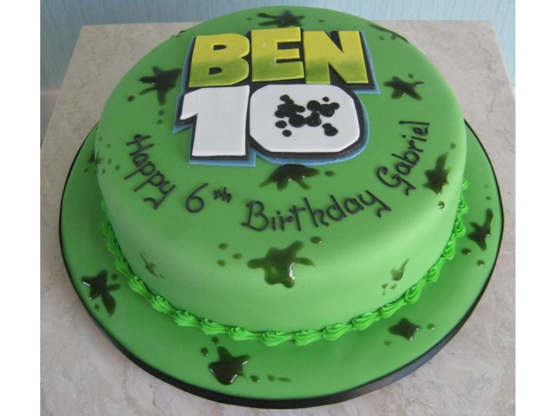 Ben 10 - using logo in vannilla sponge for Gabriel's birthday in St Annes