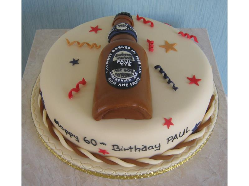Paul - real ale and Leigh Centurians fan in Swinton for his 60th birthday, made from fruit cake