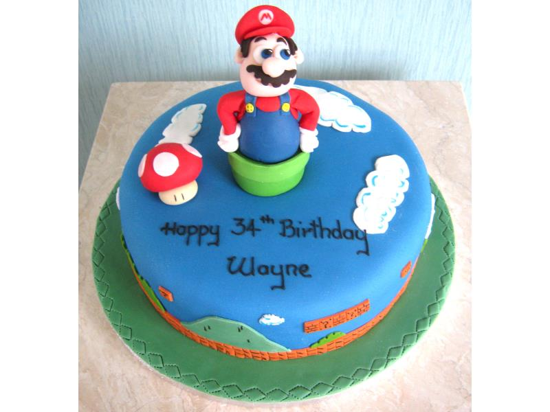 Super Mario in Madeira for Wayne in Blackpool on his 34th birthday