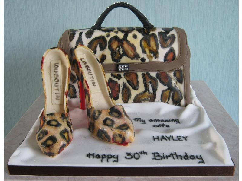 Leopard Skin handbag and leovanilla spongepard skin shoes for amazing wife Hayley in Bispham from