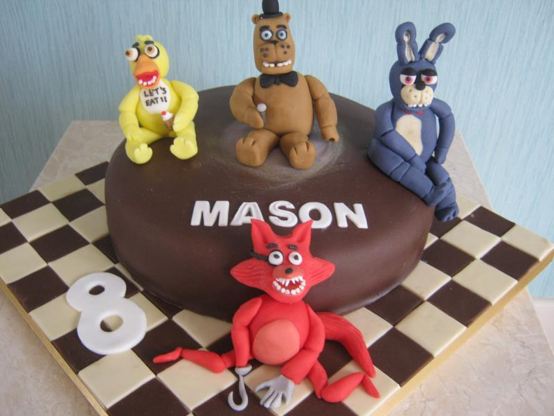 5 Nights at Freddy's in chocolate sponge to celebrate Mason's 8th birthday in Thornton
