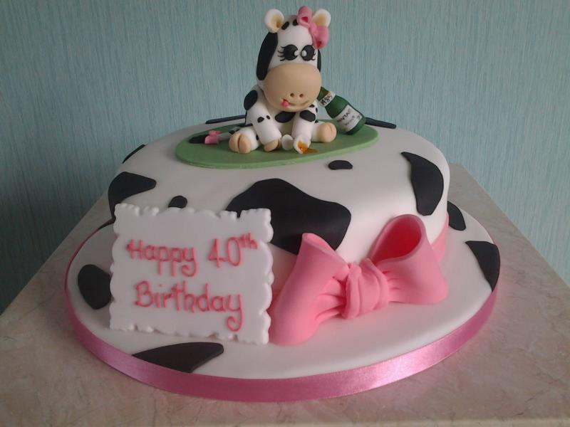 Mandy Moo for Mandy's surprise 40th party in Poulton from vanilla sponge