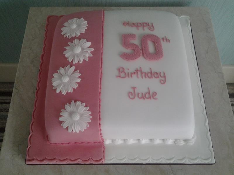 50th Birthday Cake In Chocolate Sponge For Jude Freckleton Preston