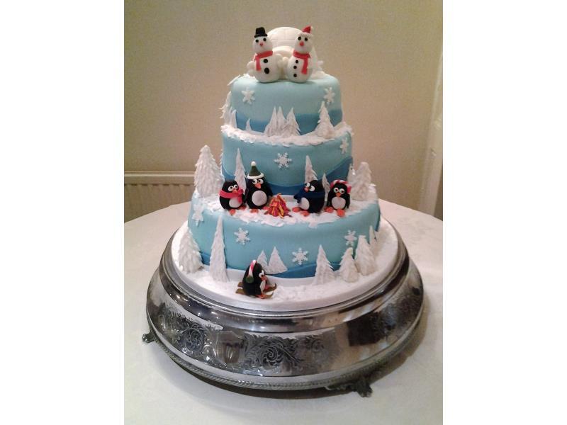 Winter Themed Wedding Cake - Wedding Cake Flavors