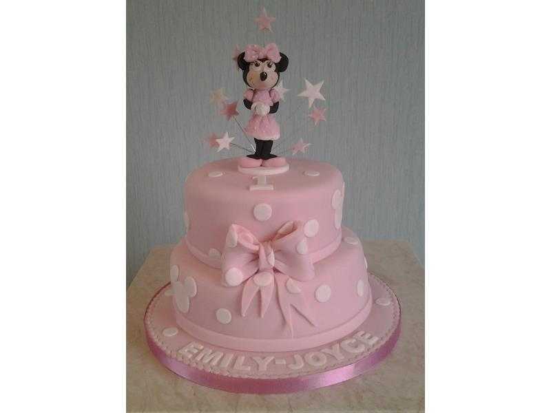 Minnie Mouse 2 tier chocolate sponge cake in Thornton