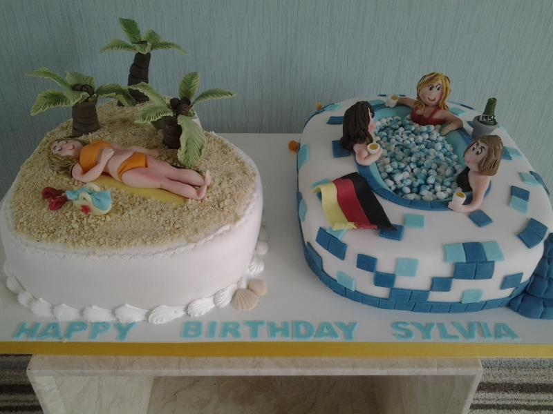 Beach Scene And Hot Tub In Vanilla Sponge For Sylvia Friends Preesall