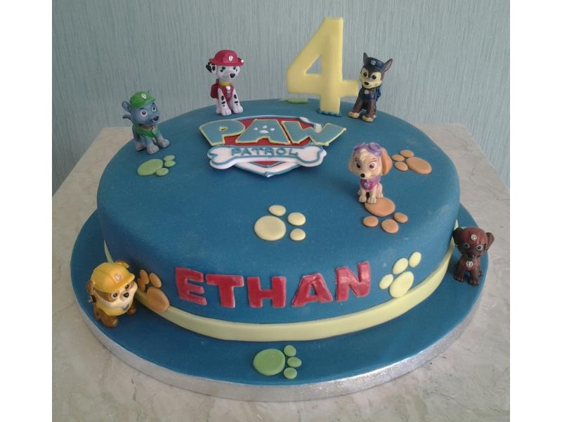 Paw Patrol - in chocolate sponge for Ethan's birthday in Bispham