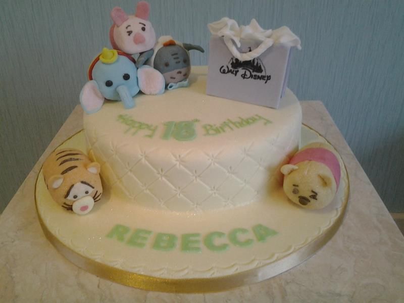 Tsum Tsum characters for Rebecca in Blackpool. Cake made from vanilla sponge