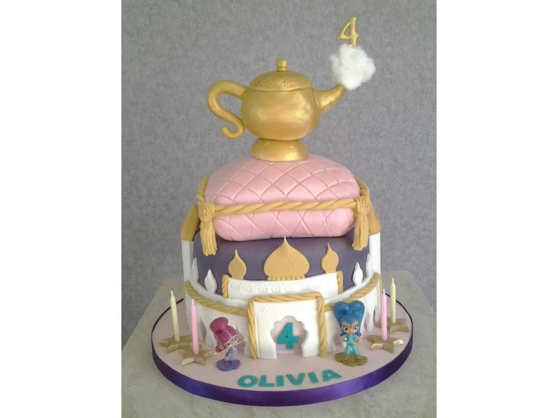 Arabian Nights - Shimmer & Shine Genies with vanilla sponge for Olivia in Blackpool