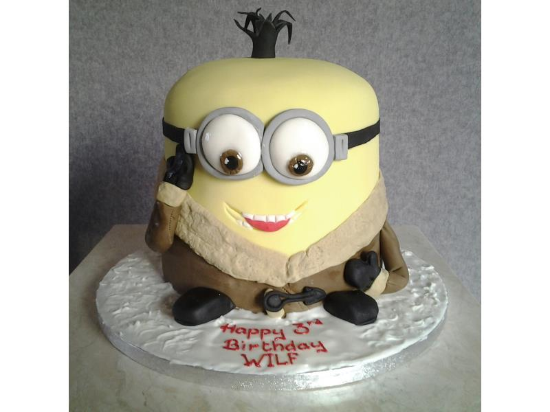 Kevin Minion in vanilla sponge for Wilf Over Wyre