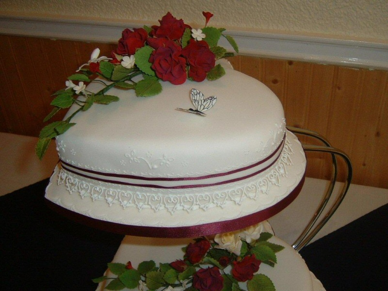 Tracey - 2 tier heart shaped wedding cake for Tracey from Thornton Cleveleys