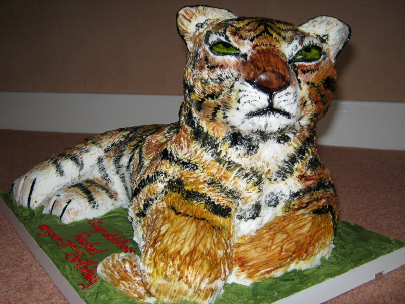Tiger - 3D tiger shaped cake for Rachel of Penwortham, Preston