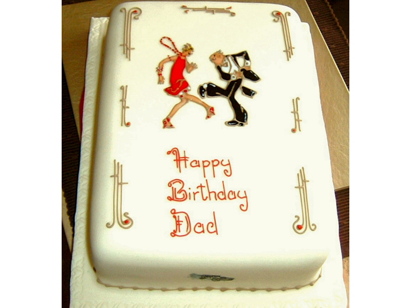 Disco Dad - Groovy disco dad cake for Lynn, Bispham