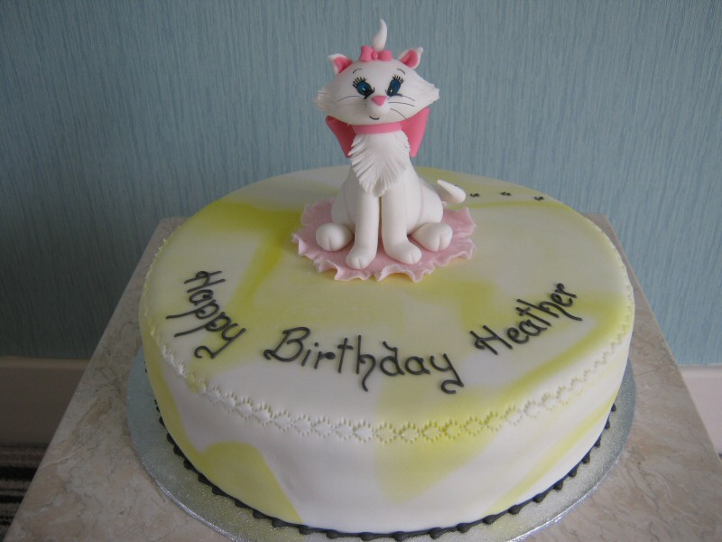 Heather - Aristocat birthday cake for Heather of St Annes