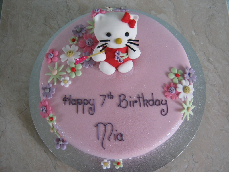 Hello Kitty - Cake for Mia of Cleveleys 7th birthday