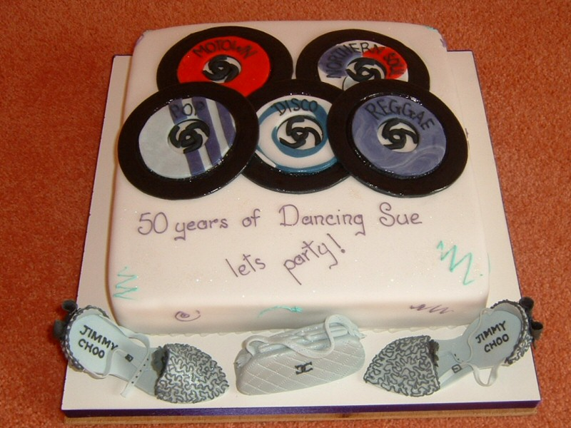 D.I.S.C.O. - 50th birthday disco cake for Sue of Lytham