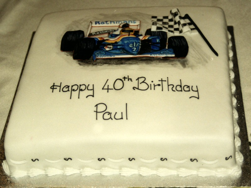Paul - Formula One cake for Paul's 40th birthday, Blackpool