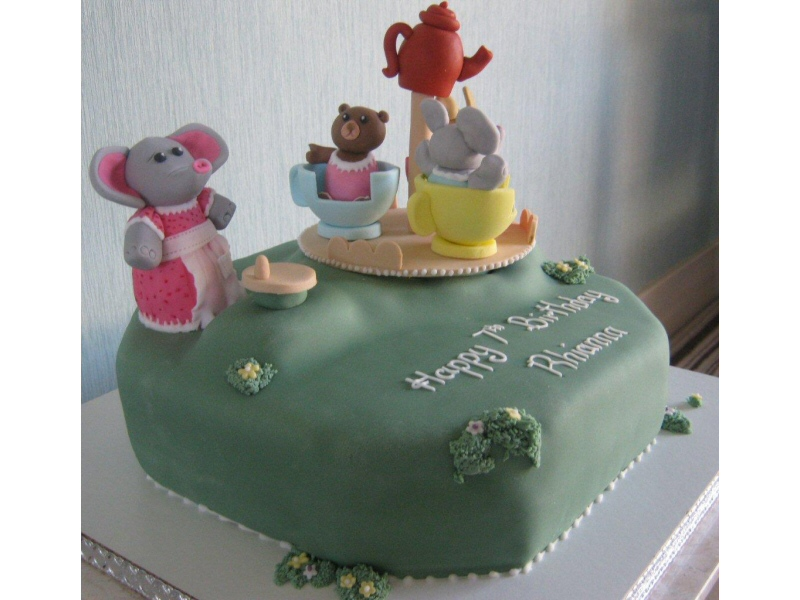 Sylvanian Families - Cake themed on the popular children's toy for Rhianna of South Shore, Blackpool.
