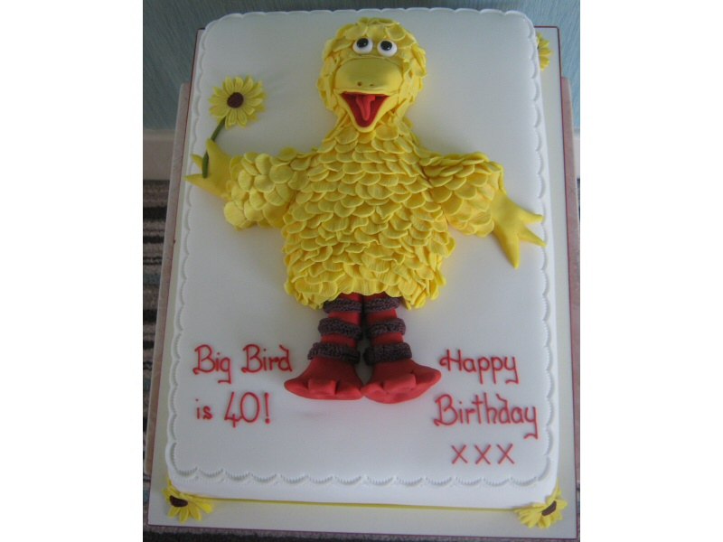 Big Bird - Sesame Street cake for Big Bird (aka Sandra) of Lytham.