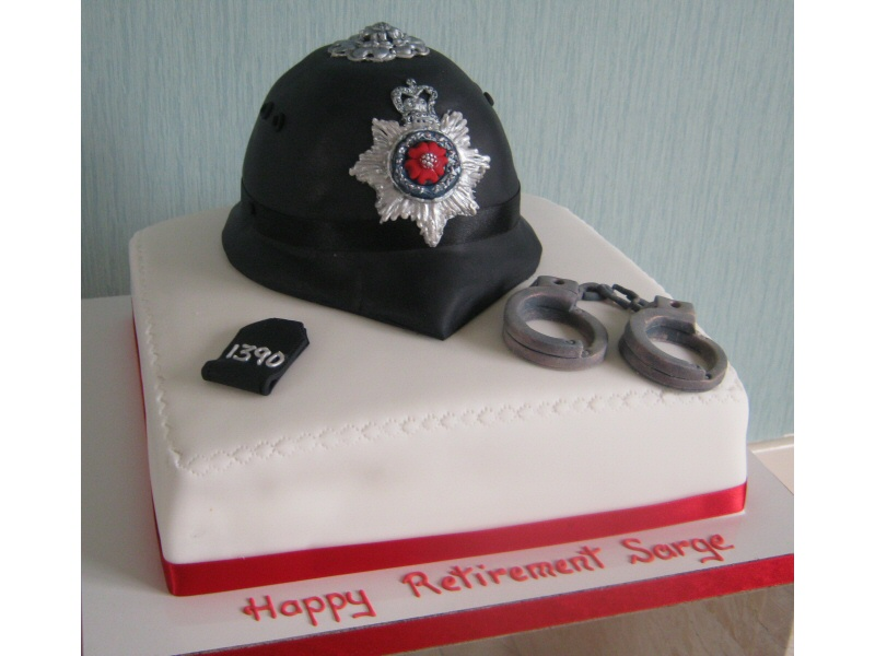 Police Helmet - Cake for Jeff of St Annes to celebrate his retirement from the police force.