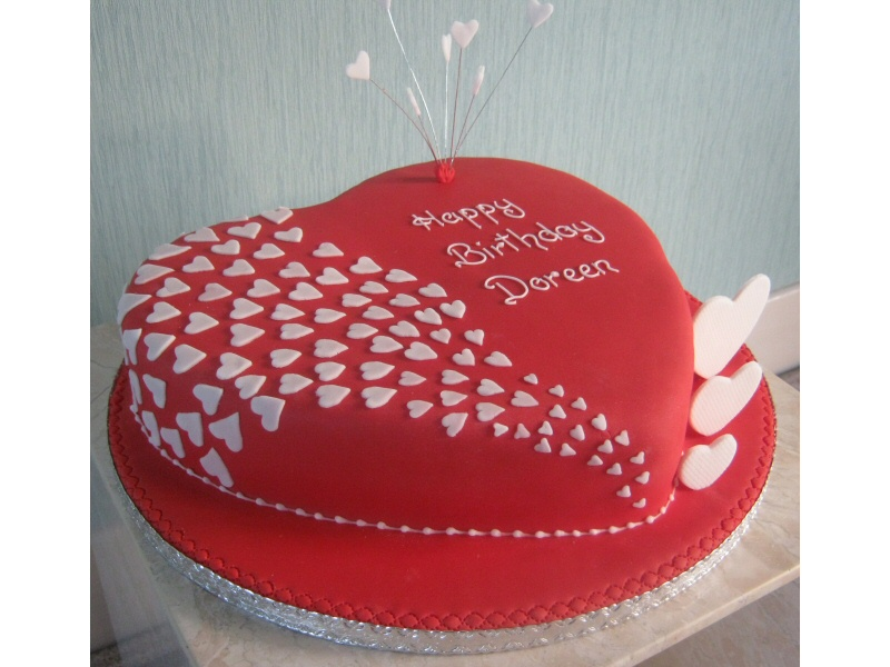 Love Heart - Love heart shaped cake for Doreen s birthday ...